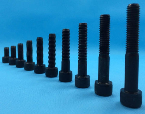 M12, Cap Head, Socket Screw, Self-Colour (12.9).