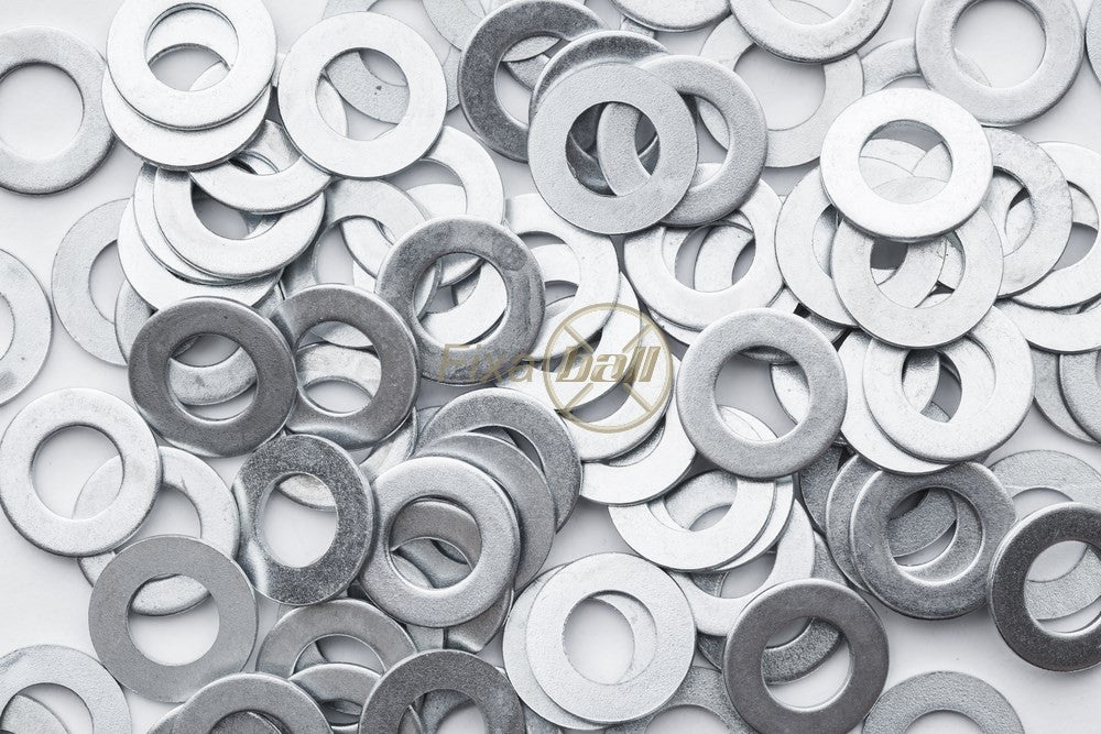 M2 - M24, Washers, Form A, Zinc, BZP, DIN 125., Hardware by Fixaball