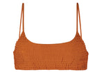 Mia Smocked Bikini Top in Orange