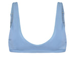 Chloe Textured Bikini Top in Light Blue