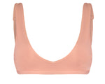 Chloe Textured Bikini Top in Peach