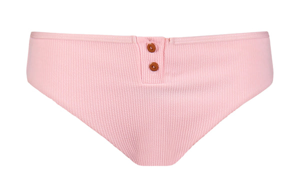 Keira Thermal Button Bikini Bottom in Pink