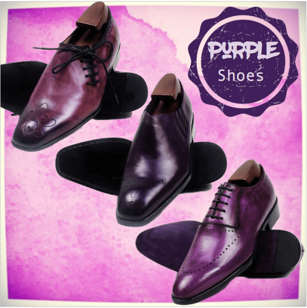 Purple Shoes, a fashion alternative to black shoes