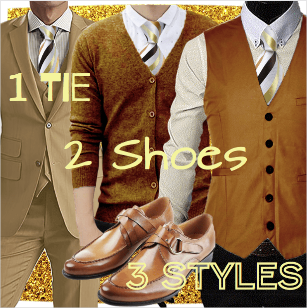 1 Tie, 2 Shoes, 3 Styles