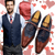 Passionate Valentine: blue front and satin red back wool waistcoat Max, red leather and blue suede top oxford shoes Smart Suede - Only at Runit365