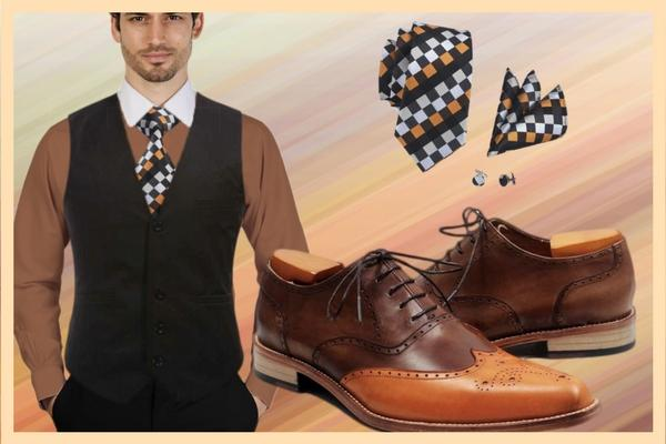 Trendy orange and brown attire for men