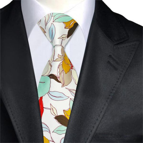 Runit365 - Necktie Beige Leaves