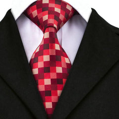 Runti365 - Necktie Red Checks