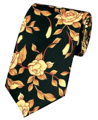 Runit365 - Necktie - Golden Flowers