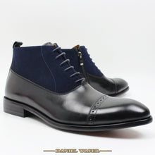 Luxury Men Ankle Suede and Leather Boots