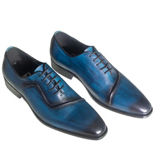 designed men's oxford blue shoes