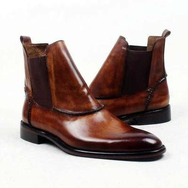 Eytan - Deluxe brown Ankle Boots for Men