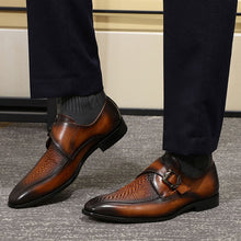 Crocodile print top - Monk Strap Shoes