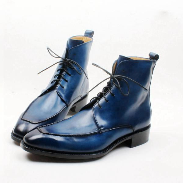 Blue Sky - Deluxe blue Ankle Boots for Men