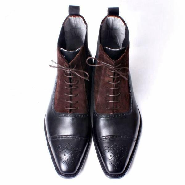 Firenze - Deluxe Brown Ankle Boots for Men