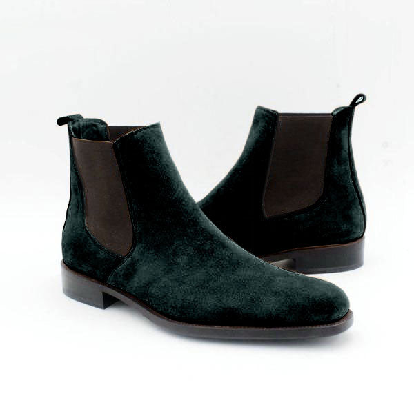 Joey Pythagore - Peacock Chelsea Boots - Runit365