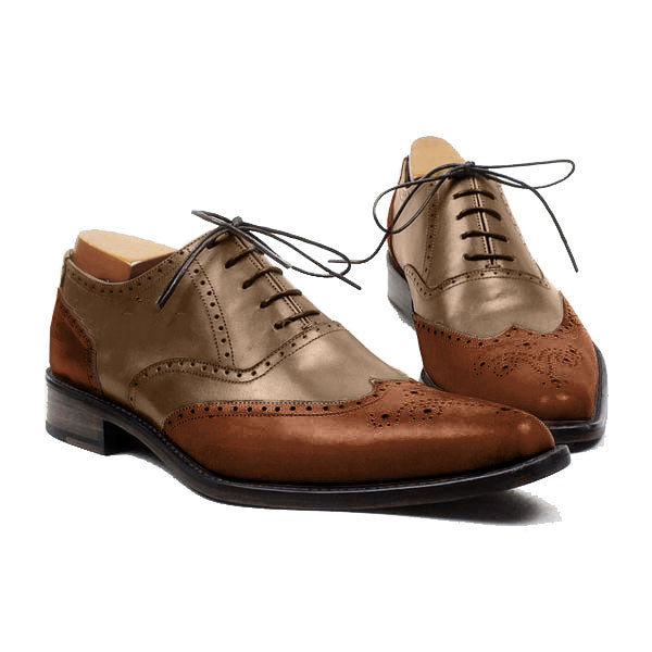Smart Wood style - Wingtip oxford shoes for men