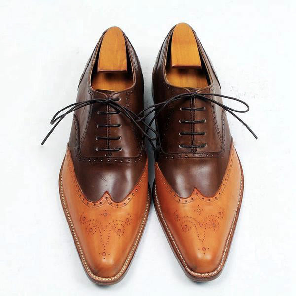 Smart Orange - Deluxe 2 tone Oxford Men Shoes