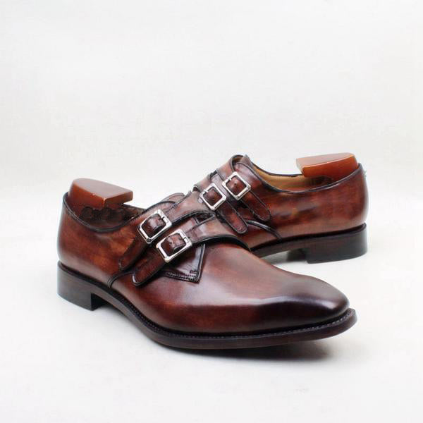 Double thin buckles - Deluxe Monk strap Shoes