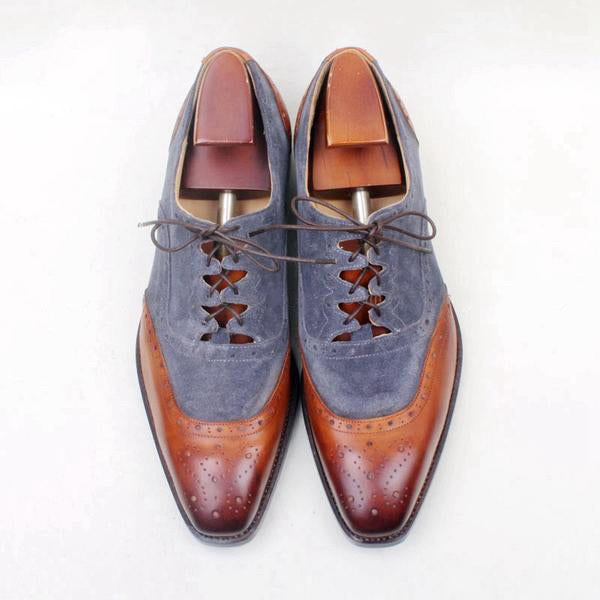 Jeans - Lace up Deluxe Brown lace up men shoes