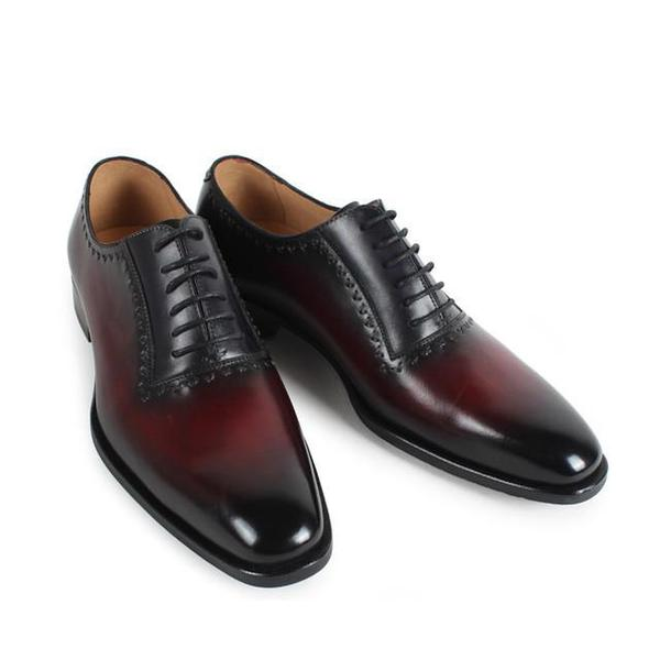 Julio Burgundy - Deluxe derby Lace-up shoes