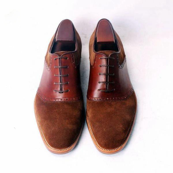 Woody - Suede and leather oxford men shoes