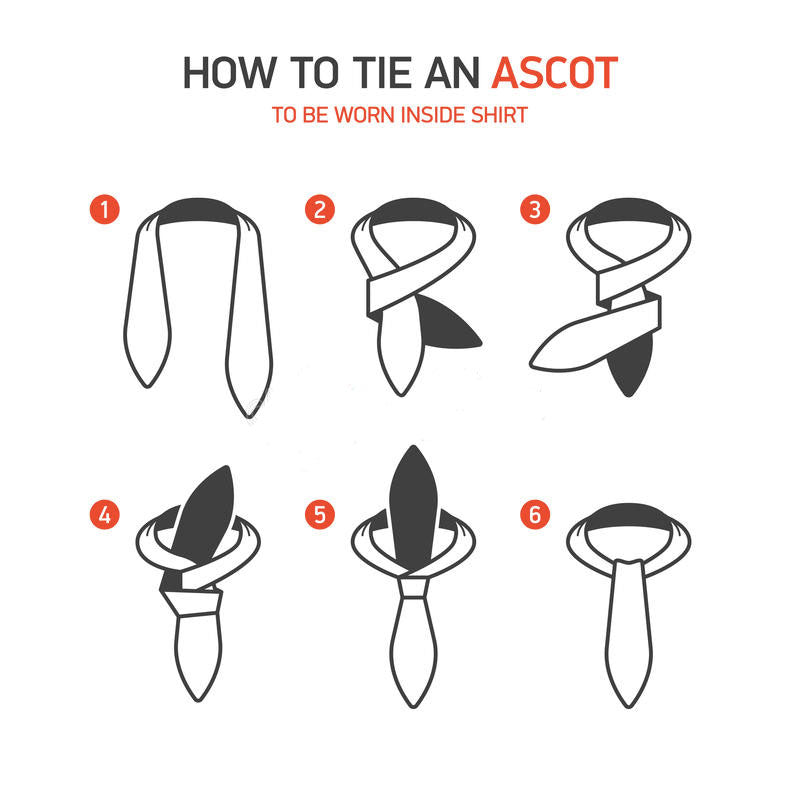 How to tie an ascot