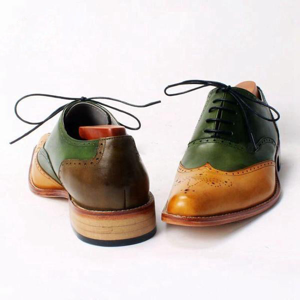 Smart Multi - Deluxe trendy leather wingtip shoes