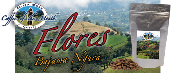 Flores Coffee of the Month Banner - Mystic Monk Coffee