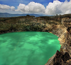 Volcanic Lake in Flores, Indonesia - Mystic Monk Coffee