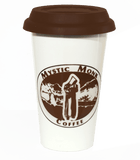 Porcelain Travel Mug 11oz, Mug - Mystic Monk Coffee