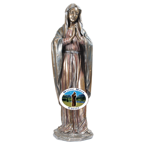 Adoring Virgin Statue, Statues - Mystic Monk Coffee