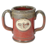 Brick Red Double Handled Mug, Mug - Mystic Monk Coffee