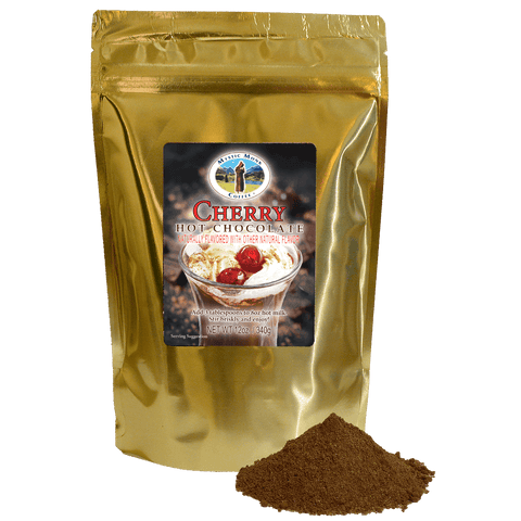 Cherry Hot Chocolate, Candies - Mystic Monk Coffee