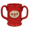 Red Double Handled Mug, Mug - Mystic Monk Coffee