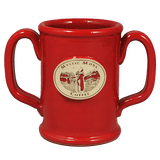 Red Double Handled Mug