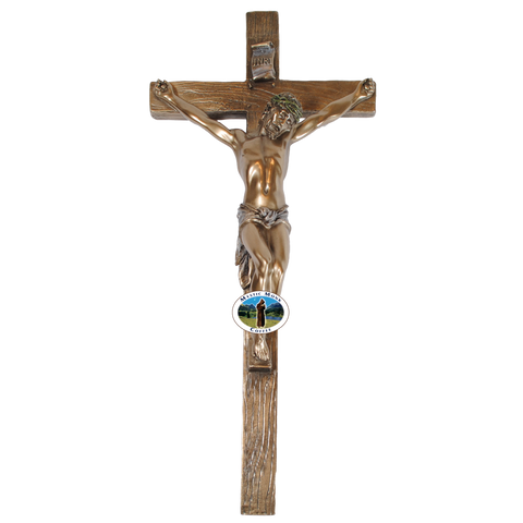 Wall Crucifix 13 inch, Crucifixes - Mystic Monk Coffee