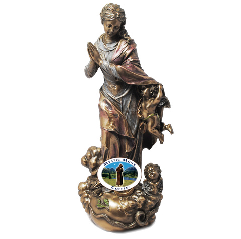 Assumption Bronze Dipped Resin 11 Inches, Statues - Mystic Monk Coffee