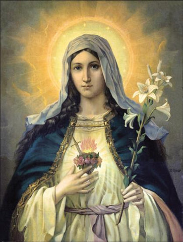 Immaculate Heart of Mary (print), Pictures - Mystic Monk Coffee