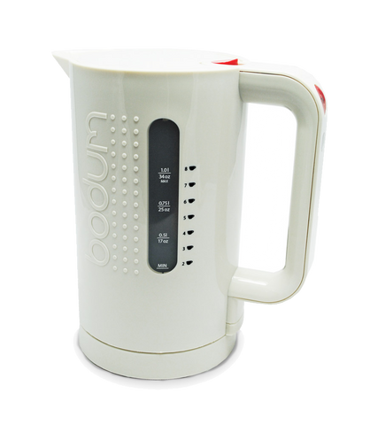 Bodum Electric Cordless Water Kettle - White, Equipment - Mystic Monk Coffee