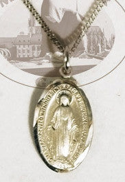 Miraculous Medal Sterling Silver, Medals - Mystic Monk Coffee