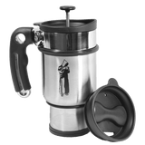 Monk Press Travel Mug - Chrome