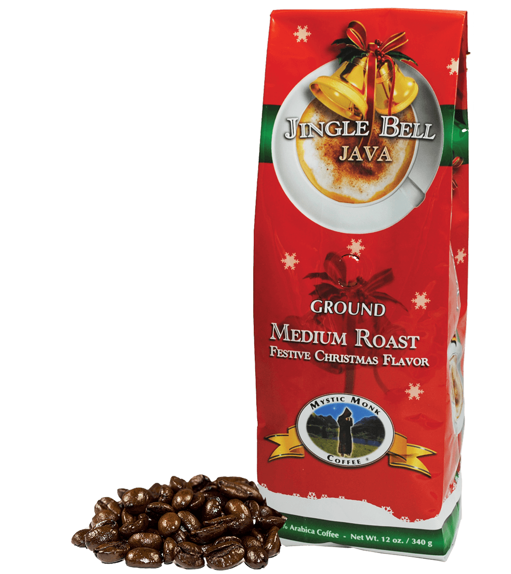 jingle bell java | flavored coffee beans | mystic monk coffee