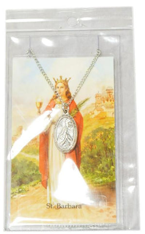 Saint Barbara Medal, Medals - Mystic Monk Coffee