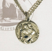 Saint Christopher Pewter Medal, Medals - Mystic Monk Coffee