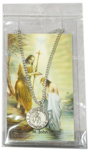 Saint John the Baptist Medal, Medals - Mystic Monk Coffee