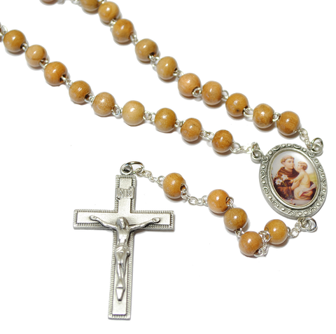 Olivewood St. Anthony Rosary, Rosaries - Mystic Monk Coffee