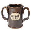 Dark Brown Double Handled Mug, Mug - Mystic Monk Coffee
