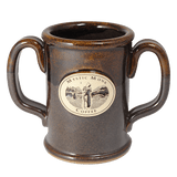 Dark Brown Double Handled Mug