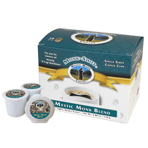 Mystic Monk Blend 10ct., Monk-Shots - Mystic Monk Coffee